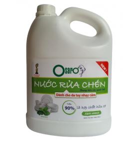 nước rửa chén cho da nhay cảm tinh dầu bạc hà 3,8l