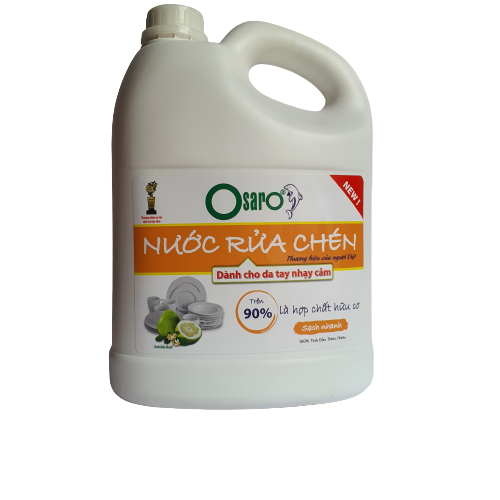 nước rửa chén cho da nhay cảm tinh dầu hoa bưởi 3,8l