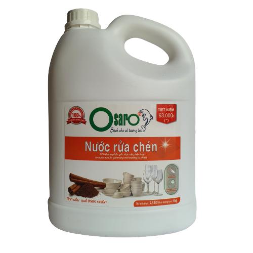 nước rửa chén cho da nhay cảm tinh dầu quế 3,8l