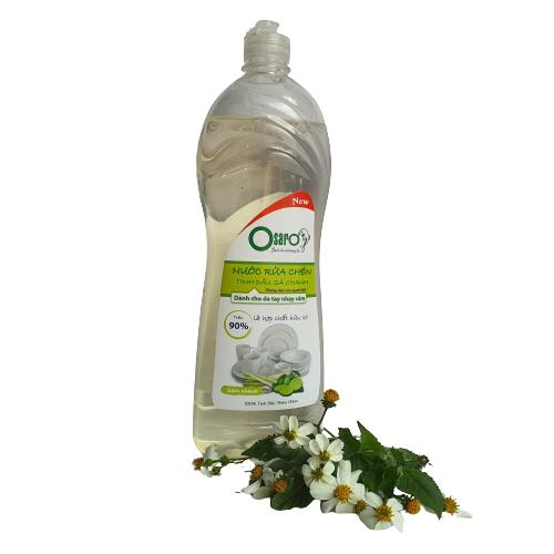 nước rửa chén không ăn tay tinh dầu sả chanh 900ml
